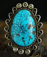 YVONNE SHIRLEY WEBBED MORENCI TURQUOISE RING