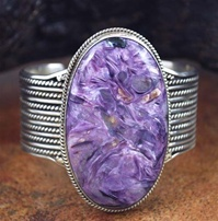 JAMES BAHE PURPLE CHAROITE CUFF BRACELET