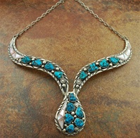 JAMES LEE MORENCI TURQUOISE & SHELL NECKLACE