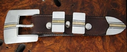 HARRIS JOE SILVER AND GOLD RANGER BUCKLE SET