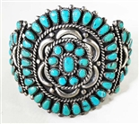 ZUNI PETTI POINT MORENCI TURQUOISE CLUSTER BRACELET
