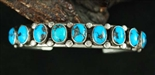 BEAUTIFUL PERSIAN TURQUOISE ROW BRACELET