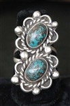 LOVELY NAVAJO SILVER & TURQUOISE RING