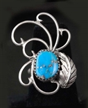 UNIQUELY CRAFTED NAVAJO MORENCI TURQUOISE RING