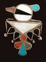 BEAUTIFUL THUNDERBIRD ZUNI RING