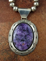 TOM LEWIS PURPLE CHAROITE PENDANT
