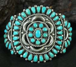 FRANK AND MARY CHAVEZ ZUNI CLUSTER BRACELET