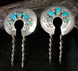 EARLY NAVAJO HAIR PIN ORNAMENTS SET OF 2
