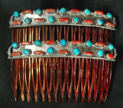 LOVELY NAVAJO HAIR COMBS SET OF 2