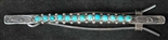 LOVELY ZUNI SNAKE EYE TURQUOISE HAIR BARRETTE
