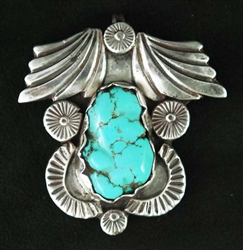 BEAUTIFUL DAN SIMPLICIO TURQUOISE PENDANT/PIN