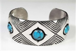 ELEGANT KENNETH BEGAY WHITE HOGAN BRACELET