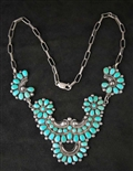 BEAUTIFUL WARREN ONDELACY TURQUOISE NECKLACE