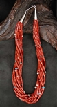 SANTO DOMINGO RED MEDITERRANEAN CORAL NECKLACE