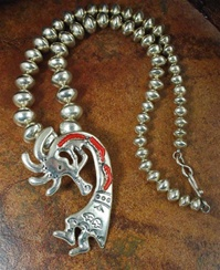 ARTHUR WILLIAMS FLUTE PLAYER KOKOPELLI PENDANT