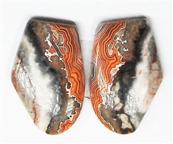 MEXICAN LACE AGATE MATCHED PAIR 15 cts