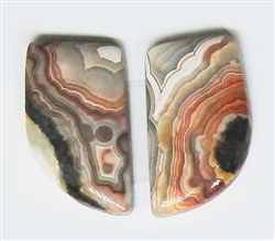 MEXICAN LACE AGATE MATCHED PAIR 21 cts