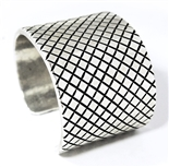 MATTHEW CHARLEY OPTICAL ILLUSION SILVER BRACELET