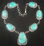 LOVELY TOMMY JACKSON TURQUOISE LINK NECKLACE