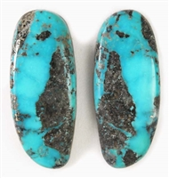 NATURAL MORENCI TURQUOISE MATCHED PAIR 41 cts.