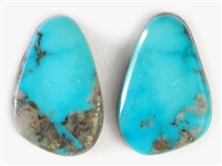 NATURAL MORENCI TURQUOISE MATCHED PAIR 17.5 cts.