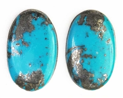 NATURAL MORENCI TURQUOISE PAIRS 24.5 cts