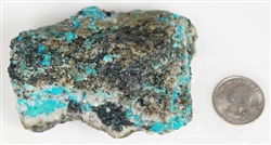 NATURAL MORENCI TURQUOISE SPECIMEN 243 GRAMS