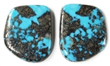NATURAL MORENCI TURQUOISE MATCHED PAIR 47 cts