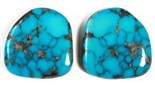 NATURAL MORENCI TURQUOISE MATCHED PAIR 51 cts.