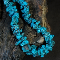 NATURAL MORENCI TURQUOISE NUGGET NECKLACE