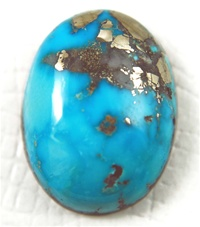 NATURAL MORENCI TURQUOISE CABOCHON WATER WEB