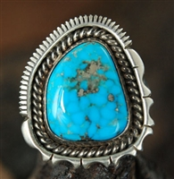 ARTIE YELLOWHORSE MORENCI TURQUOISE RING