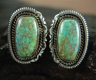"ARTIE YELLOWHORSE CARICO LAKE TURQUOISE EARRINGS<SPAN style=""COLOR: #ff0000; FONT-WEIGHT: bold"">*SOLD*</SPAN></SPAN>"