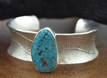 "OLIN TSINGINE TUFA CAST MORENCI TURQUOISE BRACELET<SPAN style=""COLOR: #ff0000; FONT-WEIGHT: bold"">*SOLD*</SPAN></SPAN>"