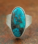 "OLIN TSINGINE TUFA CAST MORENCI TURQUOISE RING <SPAN style=""COLOR: #ff0000; FONT-WEIGHT: bold"">*SOLD*</SPAN></SPAN>"