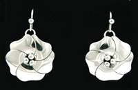 ARTIE YELLOWHORSE STERLING SILVER FLOWER EARRINGS
