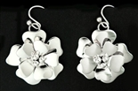 ARTIE YELLOWHORSE STERLING FLOWER EARRINGS