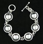 LOVELY ARTIE YELLOWHORSE STERLING LINK BRACELET
