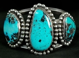 LOVELY BLUE DIAMOND TURQUOISE BRACELET
