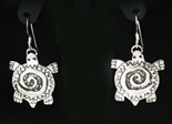 BRAD PANTEAH TURTLE SILVER EARRINGS