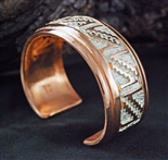 BEAUTIFUL COPPER AND SILVER RANDY HOSKIE BRACELET