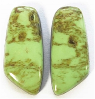 BEAUTIFUL GASPEITE MATCHED PAIR 16.5 CTS