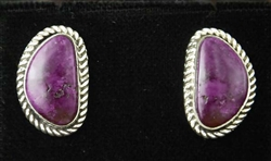 GENE JACKSON PURPLE SPINY OYSTER EARRINGS