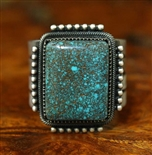 JACOB MORGAN RARE WEBBED GODBER/BURNHAM TURQUOISE RING