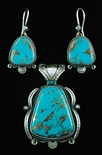 STUNNING JACOB MORGAN MORENCI TURQUOISE SET
