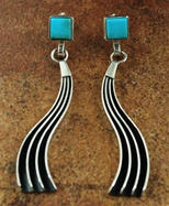 "JACK TOM MORENCI TURQUOISE EARRINGS<SPAN style=""COLOR: #ff0000; FONT-WEIGHT: bold"">*SOLD*</SPAN></SPAN>"