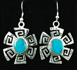 KEE YAZZIE MORENCI TURQUOISE EARRINGS