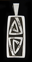 KEE YAZZIE OVERLAY STERLING PENDANT