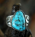 KEE YAZZIE MORENCI TURQUOISE RING