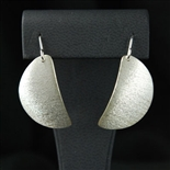 LARRY BEGAY TEXTURED SILVER EARRINGS